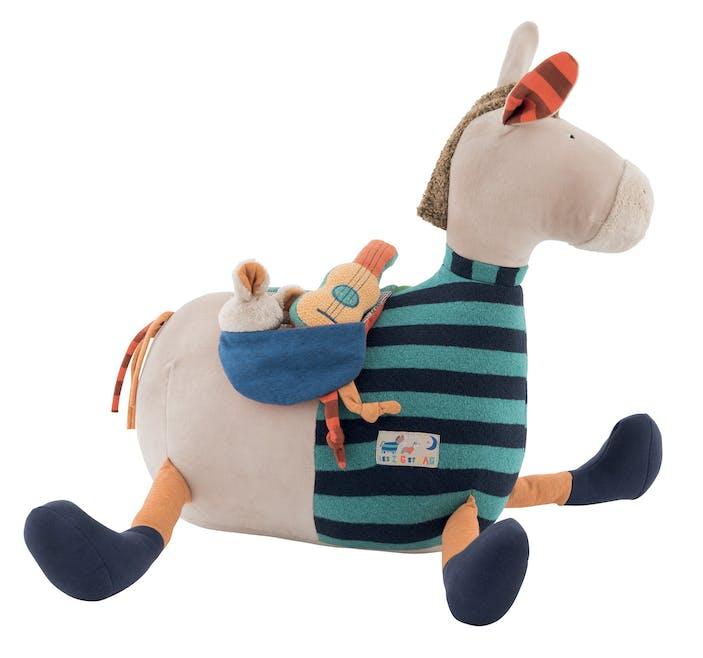 Grand cheval d'activités, Moulin Roty, 79 €. Dès 6         mois.