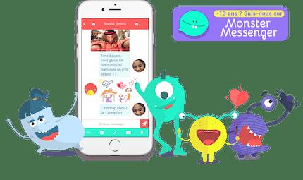 Monster Messenger, la messagerie instantanée des moins de 13 ans