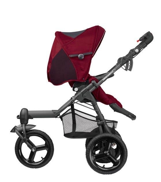 Poussette 3 roues tout-terrain High Trek de Bébé Confort - bordeau, red grey