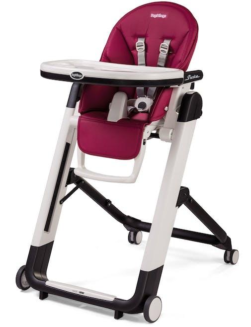 Chaise haute Siesta de Peg-Pérego - prune