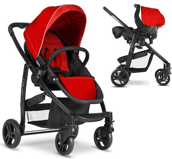 Poussette Duo Travel System Evo de Graco - rouge cosy siège auto junior baby 0+