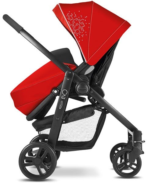 Poussette Duo Travel System Evo de Graco - rouge