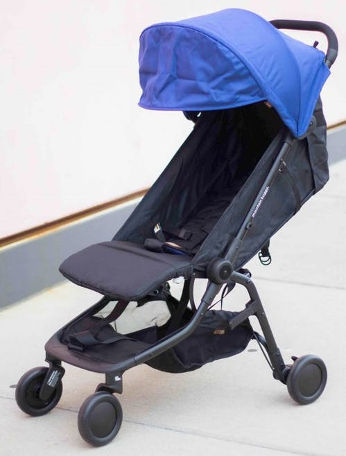 Poussette Nano V2 de Mountain Buggy - dossier inclinable inclinaison