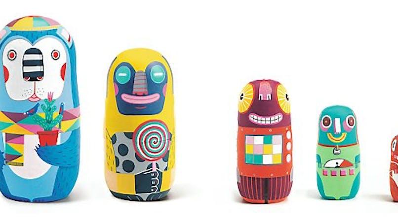 Robots gigognes Animachkas, Dejco, 30 €. Dès 2 ans.