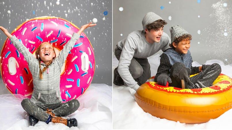 Luge gonflable, cadeau-maestro, 34 €. Dès 5-6 ans.