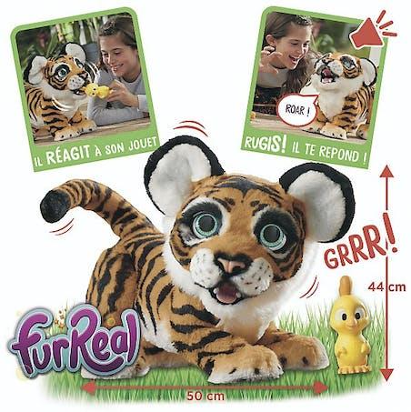 Tigre interactif Furreal, 44 cm, Hasbro, 154,99 €. Dès 4 ans.