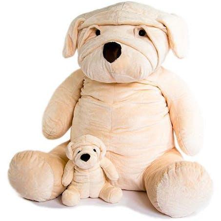 Mon chien Albert, La Pelucherie, 35 € en 28 cm et 195 € en 80 cm de haut.
