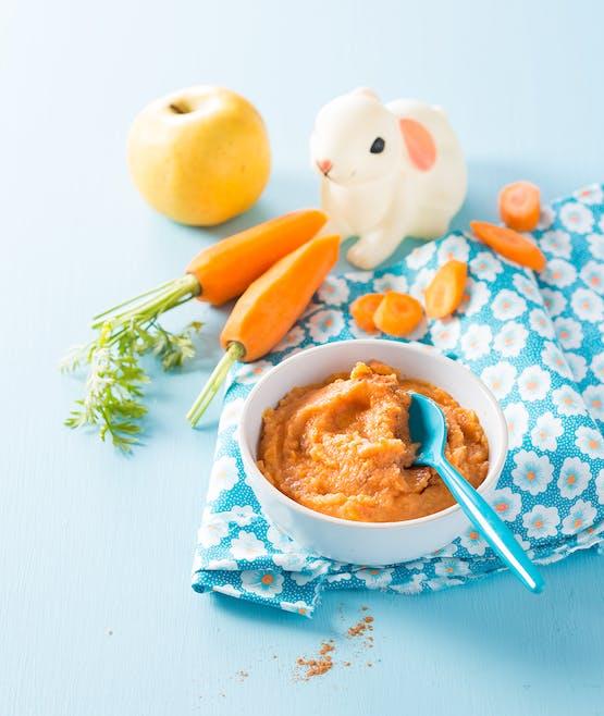 Purée de carotte et pomme golden