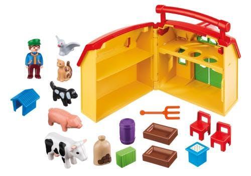 Ferme transportable 1 2 3 Playmobil