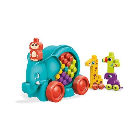 La parade de l'éléphant, à construire et à tirer. Megabloks, 34,90 €.