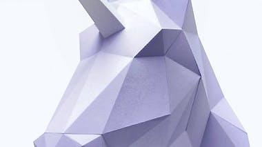 Kit licorne en papier