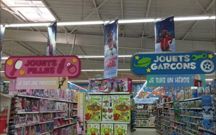 Une polémique sur l'organisation du rayon jouets de Leclerc