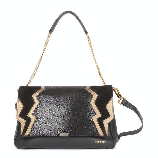 sac noir et doré marque nat-nin