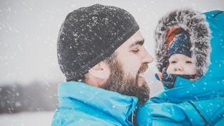 papa bebe neige