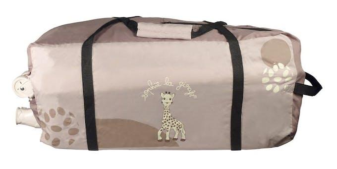 Lit parapluie Sophie la Girafe de Renolux - sac de transport