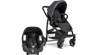 Poussette duo Travel System Evo de Graco - siège auto coque cosy Junior Baby