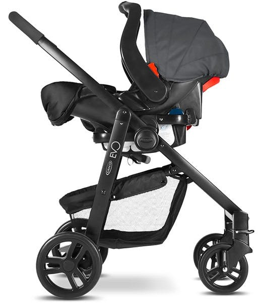 Poussette duo Travel System Evo de Graco - cosy siège auto coque Junior baby