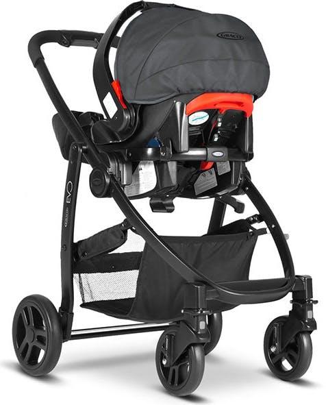 Poussette duo Travel System Evo de Graco - cosy siège auto coque Junior Baby