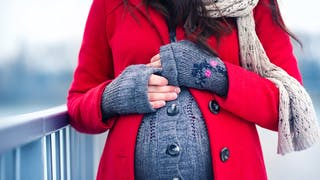 femme enceinte ne hiver