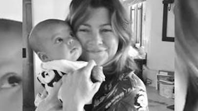 Ellen Pompeo de Grey's Anatomy maman