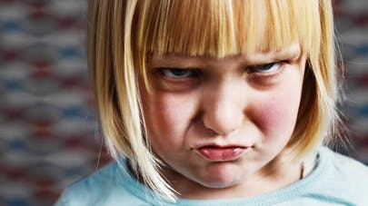 enfant en colère