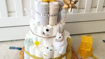 diaper cake French maman