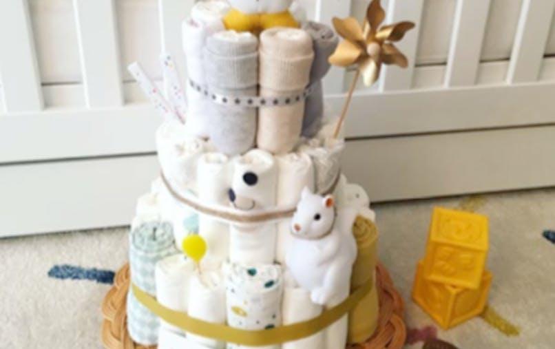 diaper cake French maman