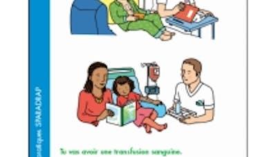 fiche transfusion sanguine Sparadrap