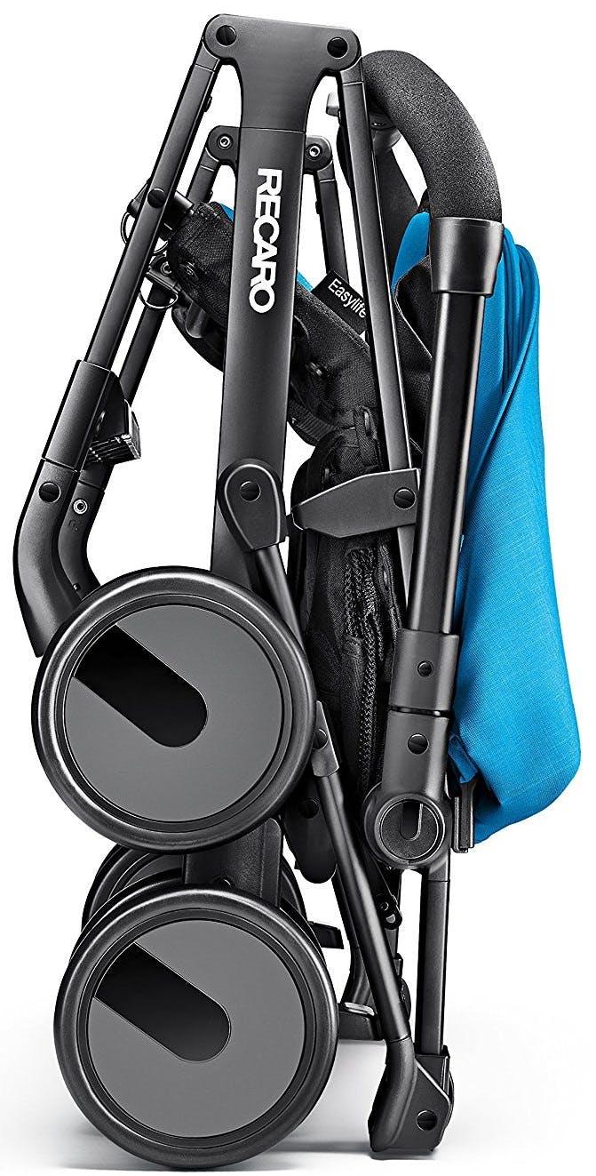 Poussette Duo Easylife de Recaro & siège auto 0+ Privia - Pliage bleu