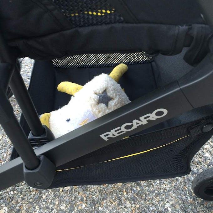 Poussette Duo Easylife de Recaro & siège auto 0+ Privia - panier provisions rangement