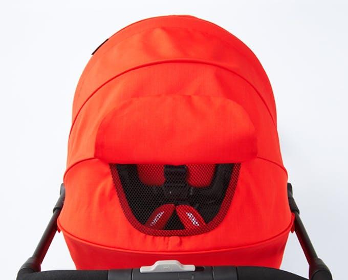 Poussette Duo Easylife de Recaro & siège auto 0+ Privia - capote canopy fenêtre