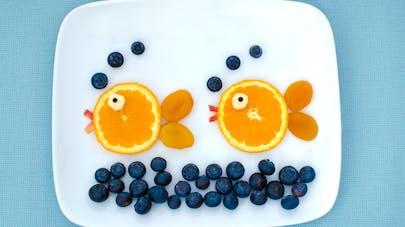 assiette orange coupée