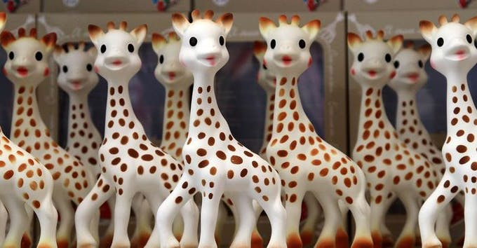 Biberons Mii Sophie la Girafe de Vulli - Jouet Sophie la Girafe
