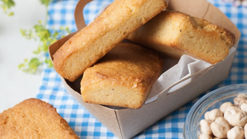 Financiers aux amandes et aux pois chiches