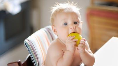 bébé croque une pomme