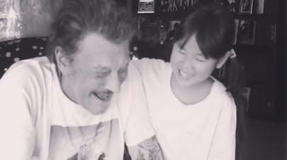 Johnny Hallyday et sa fille Joy