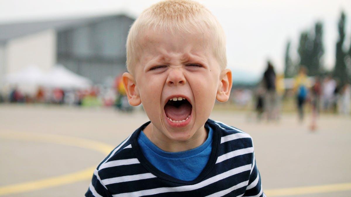 colère des enfants