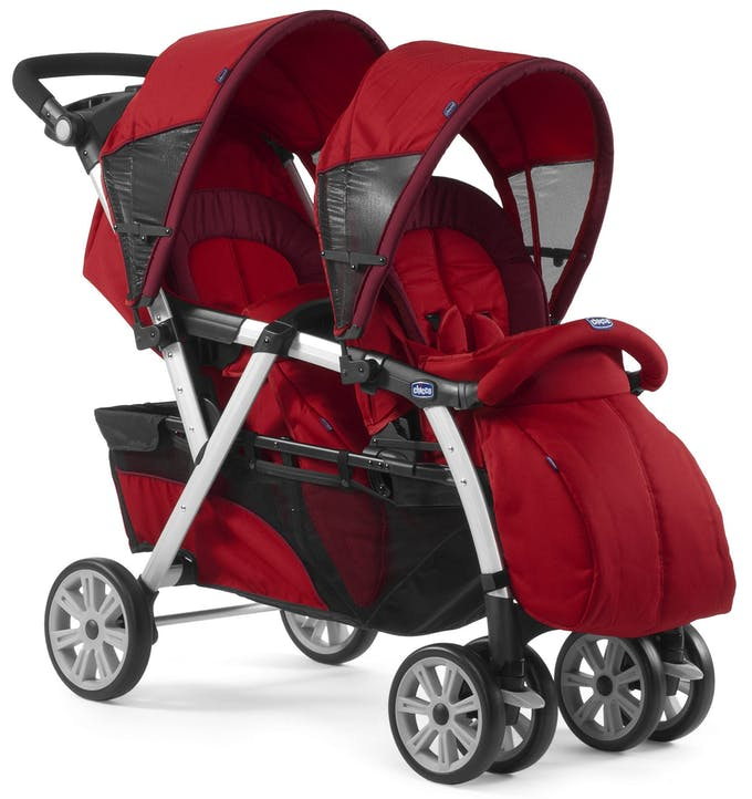 Poussette double Together de Chicco - rouge chancelière