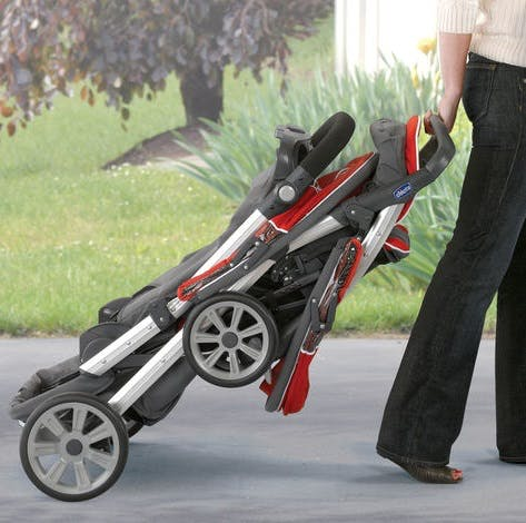 Poussette double Together de Chicco - pliage 2 roues, caddy trolley