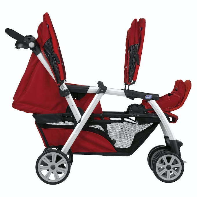 Poussette double Together de Chicco - rouge