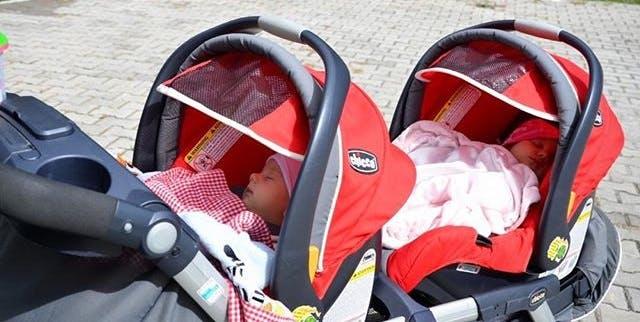 Poussette double Together de Chicco - coque siège-auto 0+ cosy