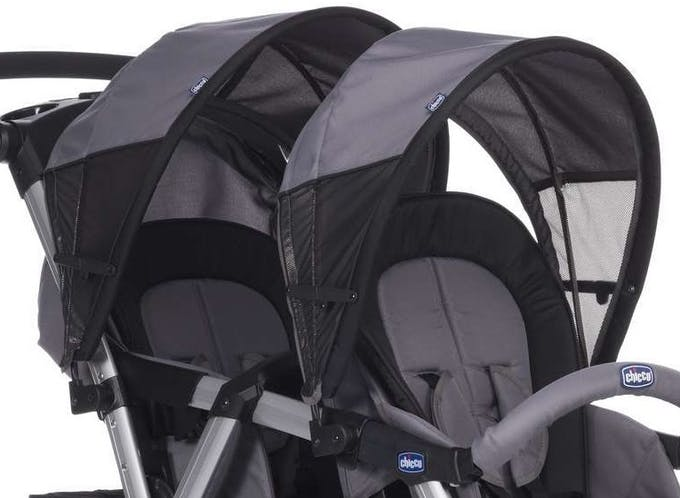 Poussette double Together de Chicco - canopy