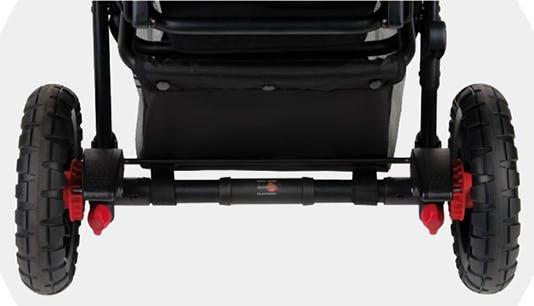 Poussette double Powertwin Pro de Jané - frein arrière parking au pied