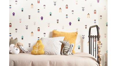 castorama invente le premier papier peint qui raconte des. Black Bedroom Furniture Sets. Home Design Ideas
