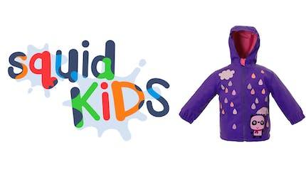 SquidKids, des vêtements et accessoires pour enfants qui changent de couleur sous la pluie!