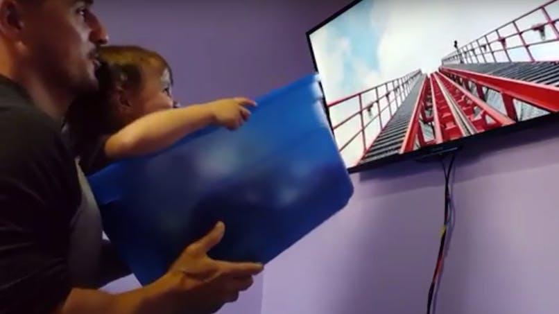 Faute de pouvoir l'amener à Disney, ce papa reproduit une attraction à domicile pour sa fille (VIDEO)