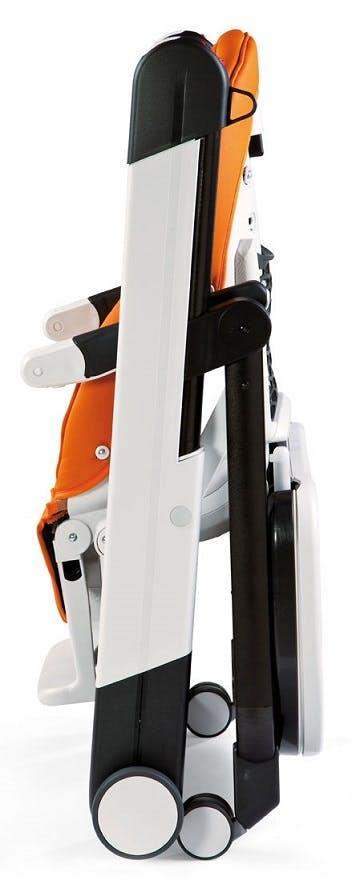Chaise haute Siesta de Peg-Pérego - orange pliage