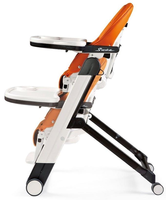 Chaise haute Siesta de Peg-Pérego - orange