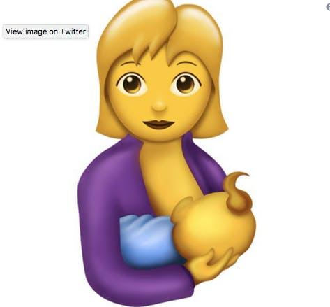 un emoji allaitement