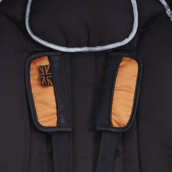Poussette canne MINI Buggy d'Easywalker - finitions couvre harnais rembourrés